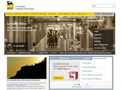 Le aziende italiane con i migliori siti web: le regole della buona comunicazione corporate online | Social Media Italy | Scoop.it