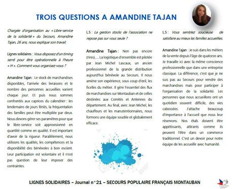 Amandine Tajan, 26 ans, au Libre service de la solidarité du Secours populaire de Montauban | Initiatives solidaires | Scoop.it