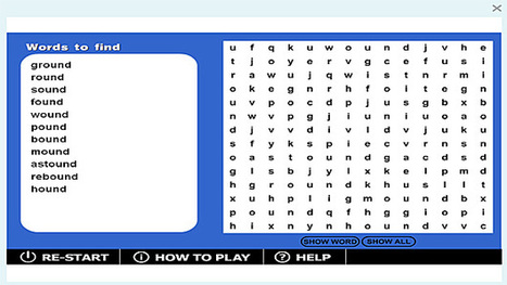 Wordsearch '-ound' game | Sites that help our spelling | Scoop.it