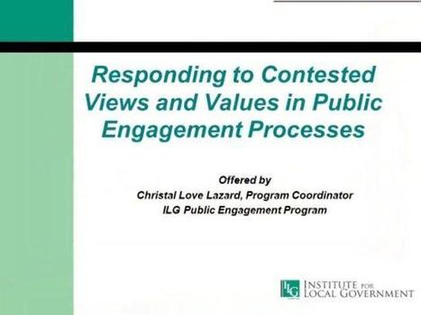 Webinar on Effective Public Engagement - Institute for Local Government | Smart Sustainable Cities | Scoop.it