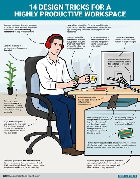 14 design tricks for a highly productive workspace   Office Environments Of The Future   Scoop.it