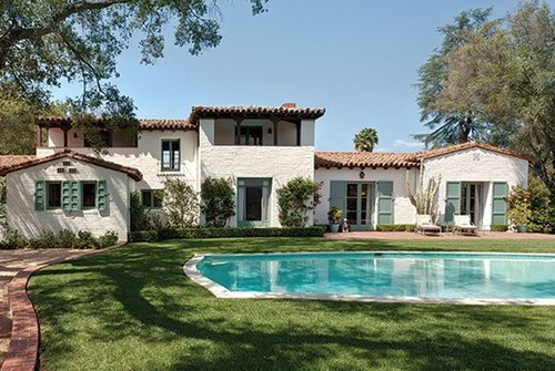 Hacienda espagnole par paul revere williams ojay usa for Acheter maison usa californie