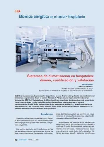 SISTEMAS DE CLIMATIZACIÓN EN HOSPITALES: DISEÑO, CUALIFICACIÓN Y VALIDACIÓN | Doctorado Ciencias Salud | Scoop.it