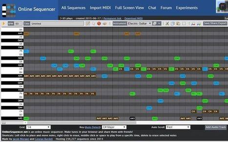 Online Sequencer: utilidad gratuita para crear música online | ARTE, ARTISTAS E INNOVACIÓN TECNOLÓGICA | Scoop.it