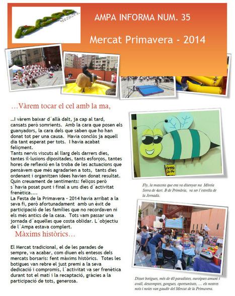 AMPA INFORMA 35: Mercat Primavera 2014 - VÀREM TOCAR EL CEL AMB LA MÀ ... | Escola i Educació 2.0 | Scoop.it