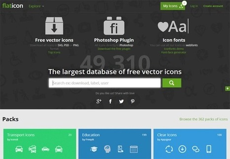5 Great Sites for Downloading Free Icons | mclearning | Scoop.it