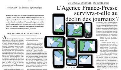 L'Agence France-Presse survivra-t-elle au déclin des journaux? | DocPresseESJ | Scoop.it