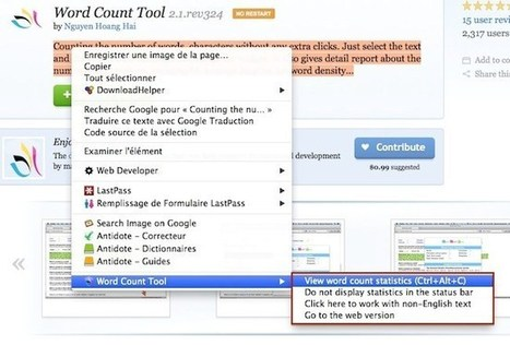 Une extension Firefox pour compter le nombre de mots de vos textes | Les outils d'HG Sempai | Scoop.it