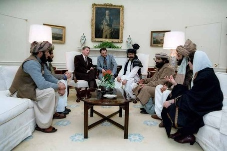 I have seen this pic before of Reagan with the Mujaheddin and.... | War Against Islam | Scoop.it