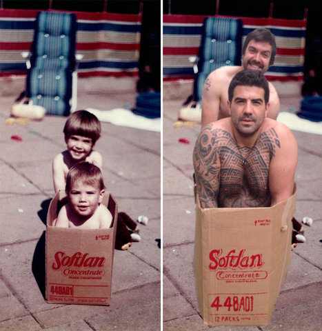 Two #Brothers #Recreated Their #Childhood #Photos For Parents' Wedding Anniversary. #art   Luby Art   Scoop.it
