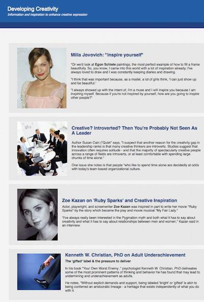 Developing Creativity newsletter   Developing Creativity   Scoop.it