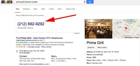 Google Knowledge Graph Adds Phone Numbers With Hangout Integration | Digital Marketing, Search Engine Optimization, Social Media & Web Development | Scoop.it