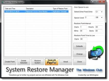 System Restore Manager, un gestionnaire complet des points de restauration Windows | Geeks | Scoop.it