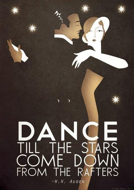 Original Design A3 A2 A1 Art Deco Bauhaus Poster Print, Vintage Dance Tango Themed, w.h.auden Quote | art deco and bauhaus | Scoop.it