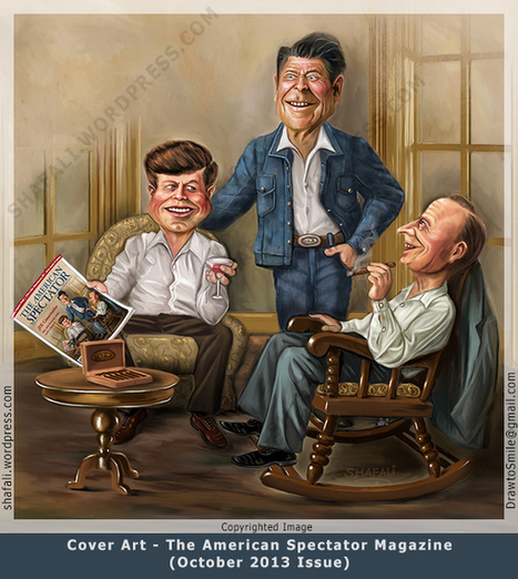 Cover Art -The American Spectator Magazine October 2013 Issue. | Caricatures | Scoop.it