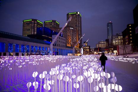 Luminothérapie at Place des Festivals, Montréal | Architecture MIPIM | Scoop.it