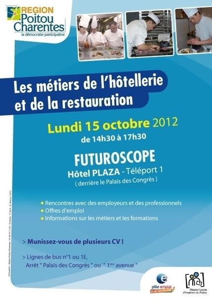 Les metiers de l'hôtellerie et de la restauration -rencontres-professionnelles site du Futuroscope | POEC HOTELLERIE | Scoop.it
