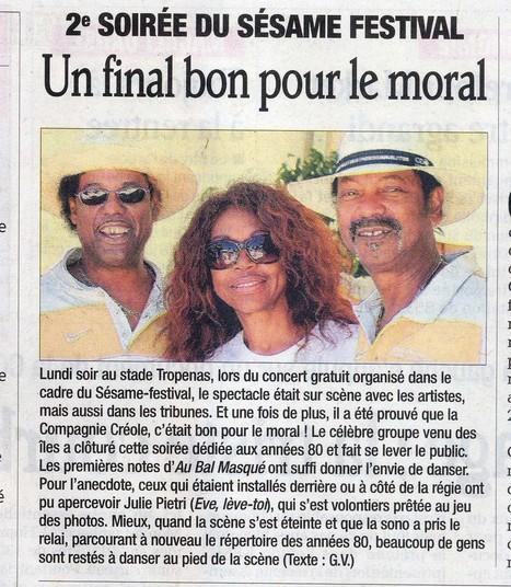 Sésame Festival !! Article du Dauphiné Libéré du 3 juillet | Montélimar Agglo Festival 2014 | Scoop.it