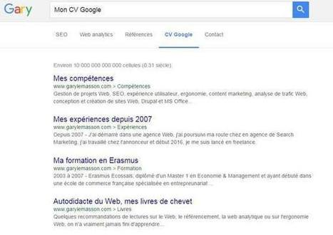 Le CV Google de Gary Le Masson, consultant freelance SEO & web analytics - Mode(s) d'emploi | Accompagner la démarche portfolio | Scoop.it