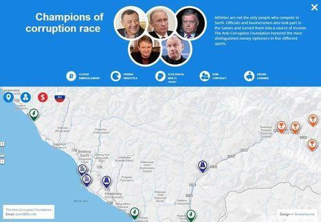 JO de Sotchi: une carte interactive pour dénoncer la corruption   Cartographie culturelle   Scoop.it