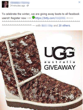 UGG Boots Giveaway - Facebook Scam | SEO Tips, Advice, Help | Scoop.it
