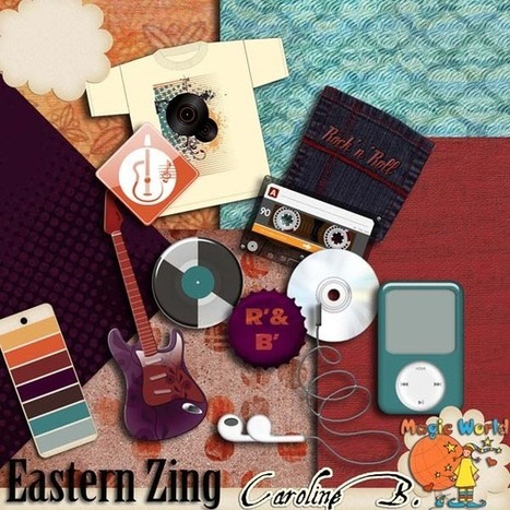 Eastern Zing Extras - $2.99 : Caroline B., My Magic World of Digital Design | SCRAPBOOKING | Scoop.it