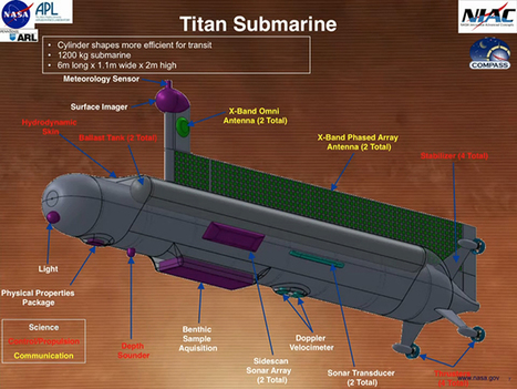 NASA plans to send an autonomous submarine to explore Titan's oceans | DiverSync | Scoop.it