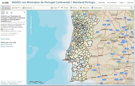 Mainland Portuguese Municipalities WebGIS (v2) - ArcGIS Online Webmap | Everything is related to everything else | Scoop.it