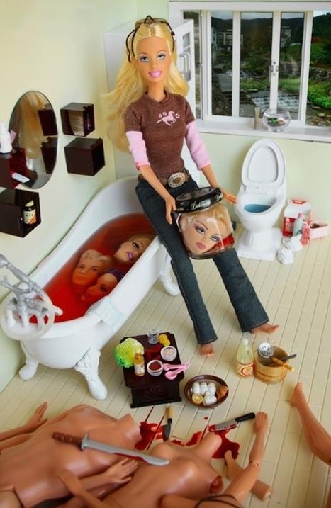 Esta fotógrafa convierte a Barbie en una asesina en serie y la muñeca no puede dar más miedo   Novedades Caracool   Scoop.it
