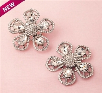 Celine crystal shoe clips | Shoe Clips - Shoe Accessories - Shoe Jewelry | Scoop.it