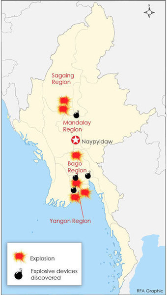 Myanmar Police Cast Wider Net for Bombing Suspects - Radio Free Asia | Myanmar | Scoop.it