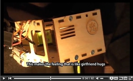 "Japanese Students Create Robotic ""Fulfillment Coat"" Which Simulates Hugs from Behind 