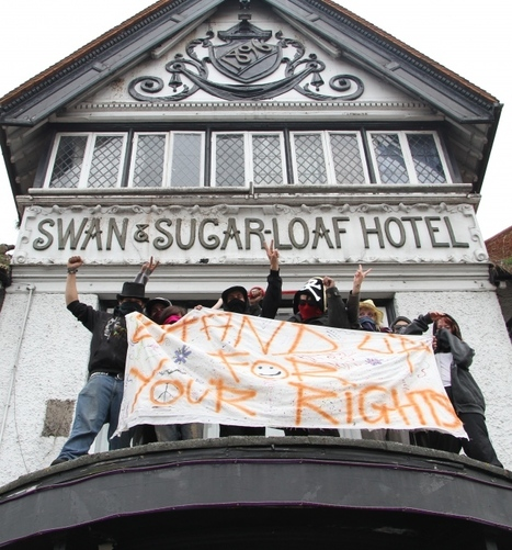 """Squatters take over historic pub and declare: """"We'll be here forever"""" 