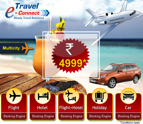 Travel e-Connect Offering Booking Engine Just in 4999 /Rs. | Online Travel Portal Development & Solution for White Label in India | Scoop.it