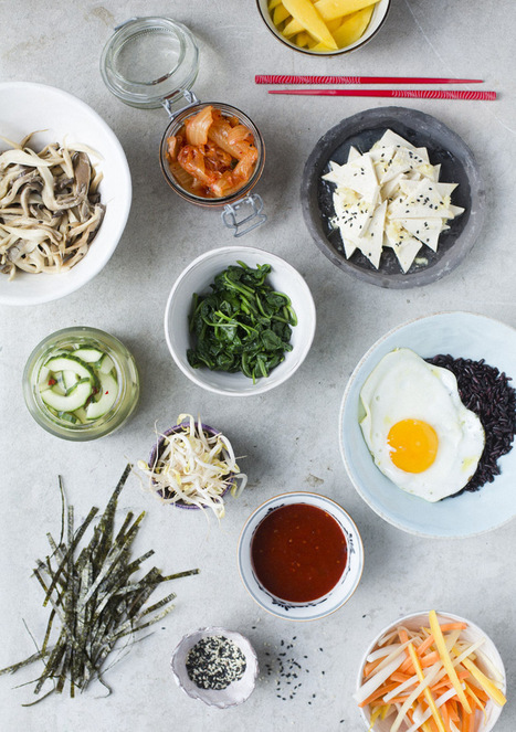 Green Kitchen Stories » Bibimbap with tofu & pickled vegetables | thinking about food | Scoop.it