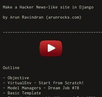 ArunRocks - Building a Hacker News clone in Django - Part1 | Python-es | Scoop.it
