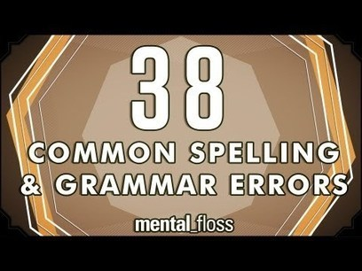 38 Common Spelling and Grammar Errors - Laughing Squid | English | Scoop.it