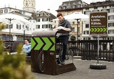 A 'Drive-In' Cafe for Bikes Pops Up in Zurich | Environment on GOOD | Tendances : société | Scoop.it