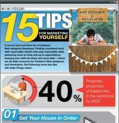 15 Tips for Marketing Yourself as a Web Designer | Infographics | Scoop.it
