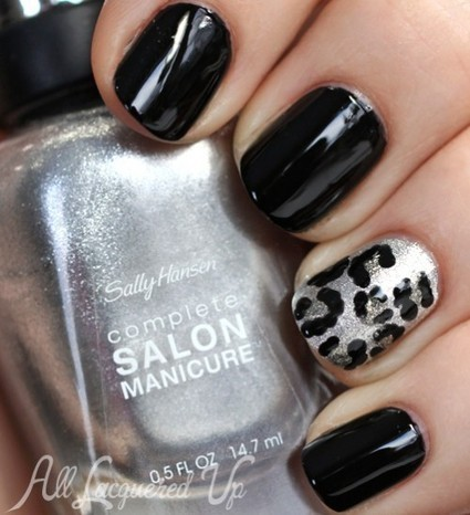 New Year's Eve Metallic Leopard Print Nail Art Tutorial - All ... | Beauty Tips | Scoop.it