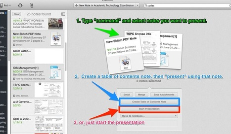 Using Merge, Table of Contents and Presentation Options   Evernote & Educació   Scoop.it