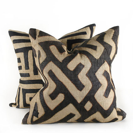 Kuba Cloth Pillow - All Home Accessories - All Soft Goods - Best Sellers - Decorative Throw Pillows - Pfeifer Finds @ Pfeifer Studio- Detail | Sustainable and ethical lifestyle- Africa | Scoop.it