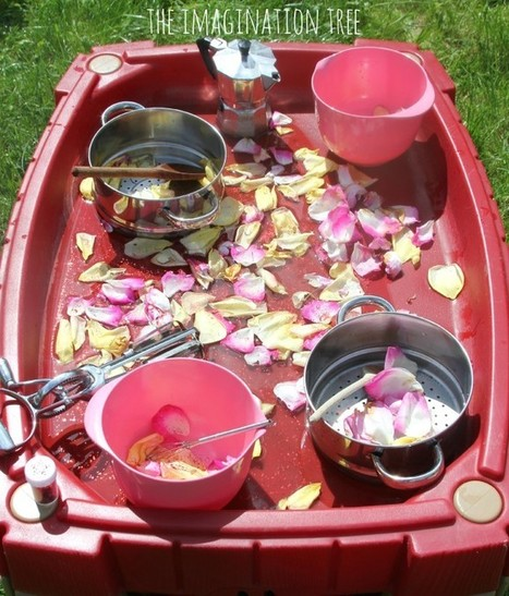 Flower Petal Soup in the Outdoor Kitchen - The Imagination Tree | Learn through Play - pre-K | Scoop.it