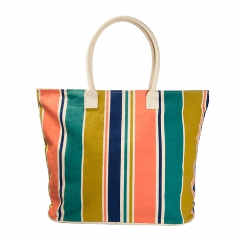 Striped Large Tote | Fashion Bags For Women | Scoop.it