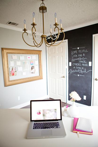 Un grand bureau très girly ! | décoration & déco | Scoop.it