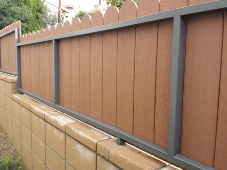 Modelos de valla verja con lamas de pvc cerr - Vallas y cerramientos ...