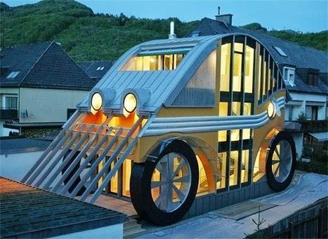 une incroyable maison compacte en forme d 39 autom. Black Bedroom Furniture Sets. Home Design Ideas