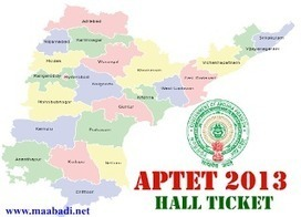 APTET 2013 Hall Ticket Download at aptet.cgg.gov.in | Latest ... | Centre For Good Governance | Scoop.it