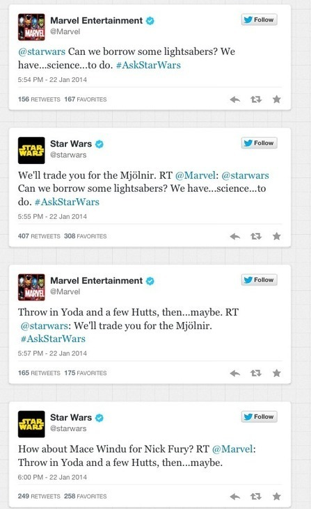Quand Star Wars et Marvel se vannent sur Twitter | Entrepreneurs du Web | Scoop.it