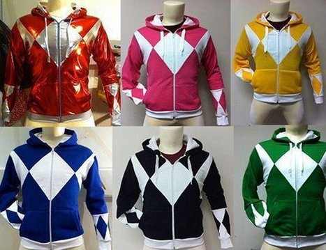 Dress up as your favorite Power Ranger with custom-made hoodies | Cosplay News | Scoop.it